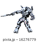 CG ガン 二足歩行のイラスト 16276779