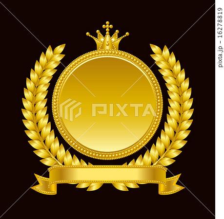 金のメダル・エンブレム 16278819