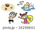 海水浴 男の子 夏休みのイラスト 16298641