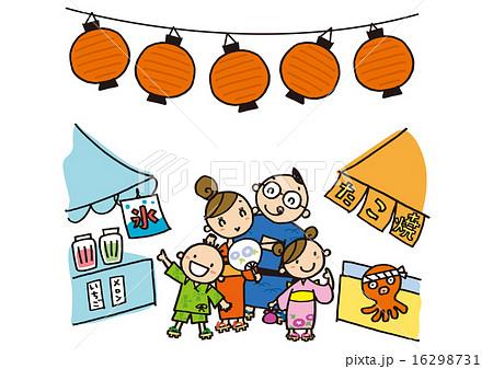夏祭りに来た家族 16298731
