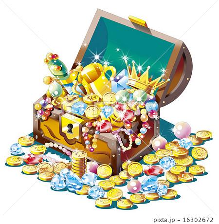 財産, ザクザク, 豪華絢爛, 金貨, きらびやか, 貴金属, ジュエリー, マネー, お金, 宝物, コイン, 金持ち, 宝箱, 財宝, 金銀財宝, トレジャー, パイレーツ, 金塊, 儲け, 純金, 高額, 価値, 富豪, 資産, 山分け, 発見, リング, 指輪, アクセサリー, ボックス, 白バック, 箱, 模様, 輝き, キラキラ, 金色, 金, ネックレス, 宝石箱, ゴールド, お宝, 真珠, 海賊, イラスト, ダイヤモンド, 王冠, 宝, 秘密, 豪華, 宝石