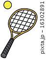 球技 テニスラケット ベクターのイラスト 16302891