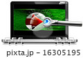 Laptop With Magnifying Glass 16305195
