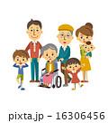 車椅子 ベクター 三世代のイラスト 16306456