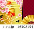 扇子 和風 和柄のイラスト 16308154