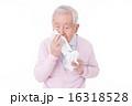 鼻をかむシニア 16318528