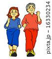 ダイエット ウォーキング 運動のイラスト 16330234