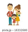 手を振る ベクター 四人家族のイラスト 16332680