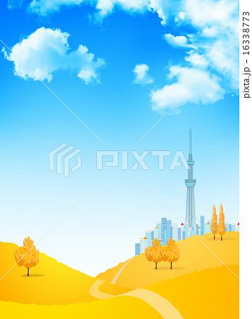 東京 空 背景  16338773