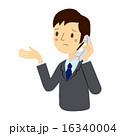 お手上げ 困る 電話のイラスト 16340004
