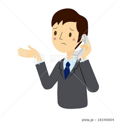 電話をしているビジネスマンのイラスト素材 16340004 Pixta