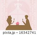 レストラン 飲食店 カップルのイラスト 16342741