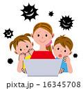 女性 子供 パソコン ウイルス 16345708