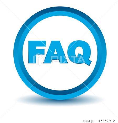 Blue faq icon 16352912