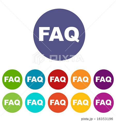 Faq flat icon 16353196