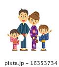 浴衣の家族 16353734