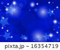 紺色星キラキラ背景横 16354719