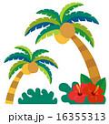 南国,椰子の木2本とハイビスカスセット 16355313