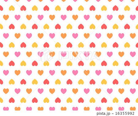 シンプルかわいいカラフルなハート柄パターン 赤系暖色系壁紙背景