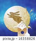 十五夜 月見団子 兎のイラスト 16358826