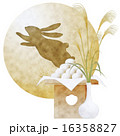十五夜 月見団子 兎のイラスト 16358827