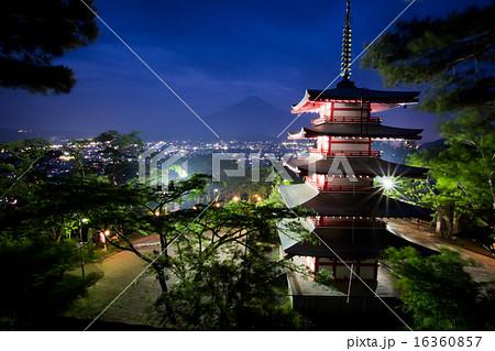 新倉山浅間公園から見た夜景 16360857