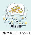 ビッグデータ クラウド クラウドコンピューティングのイラスト 16372673