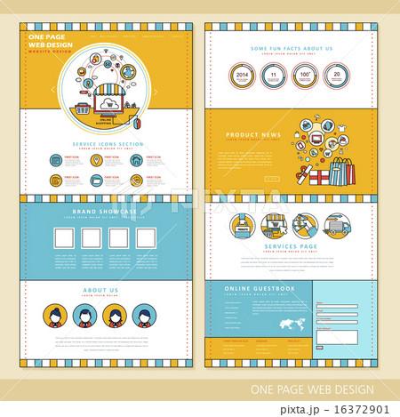 ウェブデザイン Webサイト サイトのイラスト素材 16372901 Pixta