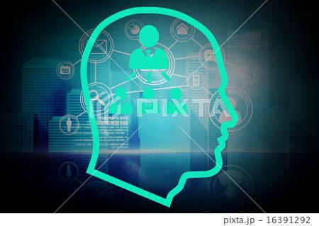 Composite image of community in headのイラスト素材 [16391292] - PIXTA