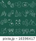 チョークで描いたような野菜と鍋20種セット 16396417