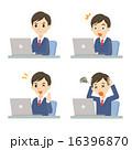 ノートパソコン バリエーション ベクターのイラスト 16396870