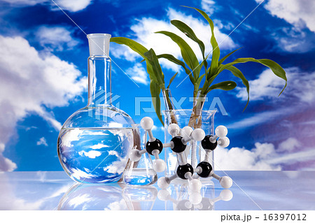 Laboratory glassware, bio organic modern conceptの写真素材 [16397012] - PIXTA