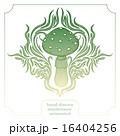 きのこ キノコ 抽象的のイラスト 16404256