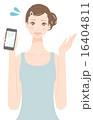 スマホ スマートフォン 人物のイラスト 16404811