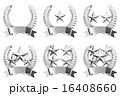 エンブレム 星 銀色のイラスト 16408660