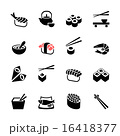 Japanese food Sushi collection. Web icon set 16418377