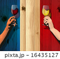 Bastille Day (Board and flag and wine) 16435127