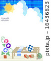 日本の夏 朝顔 16436823