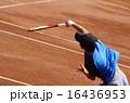 クレーコートでのテニス【サーブ】 16436953