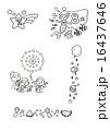 夏 モノクロ 素材のイラスト 16437646