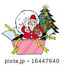クリスマスツリー プレゼント サンタクロースのイラスト 16447640