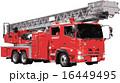 はしご車 ベクター 消防車のイラスト 16449495