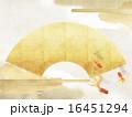 和紙 和柄 背景のイラスト 16451294