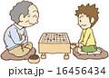 おじいさんと囲碁対決する少年 16456434