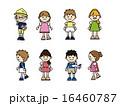 小学生 幼稚園児 男の子のイラスト 16460787