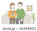 ソファ ベクター 座るのイラスト 16469832
