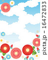 南天 背景素材 和柄のイラスト 16472833