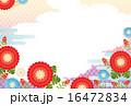 南天 背景素材 和柄のイラスト 16472834