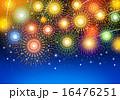 無数の花火に染まる夏の夜空 16476251