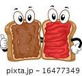 マスコット ピーナッツバター サンドイッチのイラスト 16477349